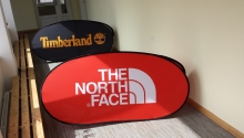 pop up banner , oval 2x1m