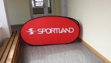 pop up banner , oval 2x1m_Sportland