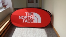 pop up banner , oval 2x1m_TheNorthFace